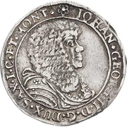 ⅙ Thaler - Johann Georg II. – obverse