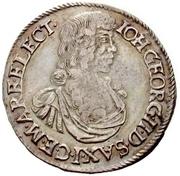 1 Gulden - Johann Georg II. – obverse