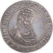 1 Thaler - Johann Georg II. (Wechseltaler) – obverse