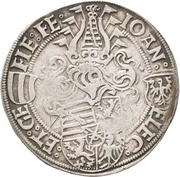 ½ Guldengroschen - Johann and Georg – obverse