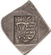 3 Groschen - Johann Friedrich II. (Klippe; Siege coinage) – obverse