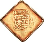 1 Ducat - Johann Friedrich II. (Siege coinage) – obverse
