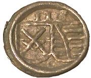 1 Pfennig - Friedrich III, Johann I, and Georg – obverse