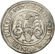 ½ Guldengroschen - Johann Friedrich der Großmütige and Georg – reverse