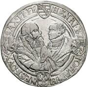1 Thaler - Johann Friedrich der Großmütige, Heinrich and Johann Ernst – reverse