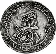 1 Thaler - Friedrich III, Johann I, and Georg – obverse