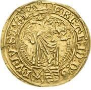 1 Goldgulden - Friedrich III, Johann I, and Albrecht – obverse