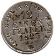 1/12 Thaler - Friedrich August I. – reverse