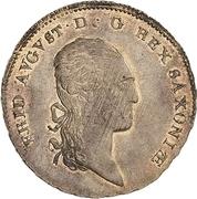 ⅓ Thaler - Friedrich August I – obverse