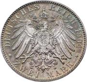 2 Mark - Friedrich August III – reverse