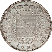 1 Conventionsthaler - Friedrich August II – reverse