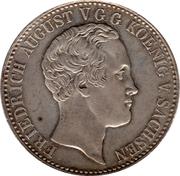 1 Conventionsthaler - Friedrich August II – obverse