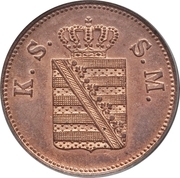 2 Pfennige - Johann I. – obverse