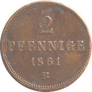 2 Pfennige - Johann I. – reverse
