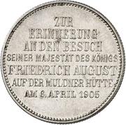 2 Mark - Friedrich August III (Mint Visit) – reverse