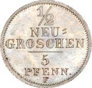 ½ Neugroschen / 5 Pfennige - Friedrich August II – reverse