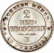 2 Neugroschen / 20 Pfennige - Johann – reverse
