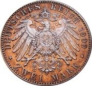 2 Mark - Friedrich August III (Leipzig University) – reverse