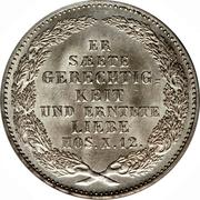 ⅓ Thaler - Friedrich August II (King's Death) – reverse