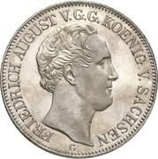 1 Thaler - Friedrich August II (Dresden Mint) – obverse