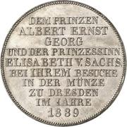 1 Thaler - Friedrich August II (Dresden Mint) – reverse
