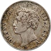 1 Thaler - Johann (Dresden Mint) – obverse