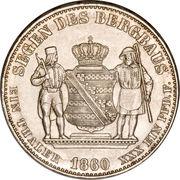 """1 Ausbeutevereinsthaler - Johann """"Mining Thaler"""" – reverse"""
