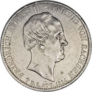 2 Thaler - Friedrich August II (Death of King Friedrich August II) – obverse