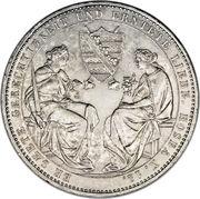 2 Thaler - Friedrich August II (Death of King Friedrich August II) – reverse