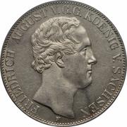 2 Thaler / 3½ Gulden - Friedrich August II – obverse