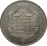 2 Thaler / 3½ Gulden - Friedrich August II – reverse