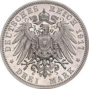 3 Mark -  Friedrich August III – reverse