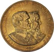 2 Vereinsthaler - Johann (Golden Wedding Anniversary) – obverse