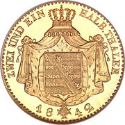 2½ Thaler - Friedrich August II – reverse