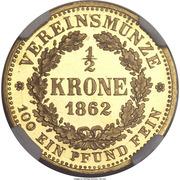 ½ Krone - Johann – reverse