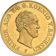 10 Thaler - Friedrich August II – obverse