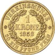 1 Krone - Johann – reverse