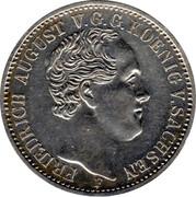 ⅓ Thaler - Friedrich August II – obverse