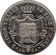 ⅓ Thaler - Friedrich August II – reverse