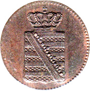 1 Pfennig - Friedrich August II. – obverse