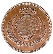 3 Pfennige - Friedrich August I. – obverse