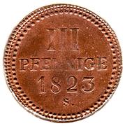 3 Pfennige - Friedrich August I – reverse