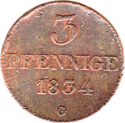 3 Pfennig - Anton I. – reverse