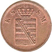 2 Pfennige - Friedrich August II. – obverse