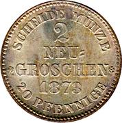 2 Neu-Groschen - Johann – reverse