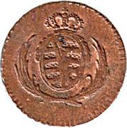 1 Pfennig - Friedrich August I. – obverse