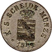1 Neugroschen / 10 Pfennige - Friedrich August II – obverse