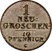 1 Neugroschen / 10 Pfennige - Friedrich August II – reverse