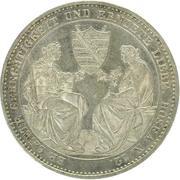 1 Thaler - Friedrich August II (Death) – reverse