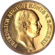 10 Mark - Friedrich August III – obverse